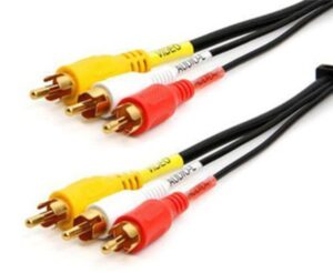 1.5 Meter High Quality AV Cable – Composite (Yellow RCA, Red/White Audio)
