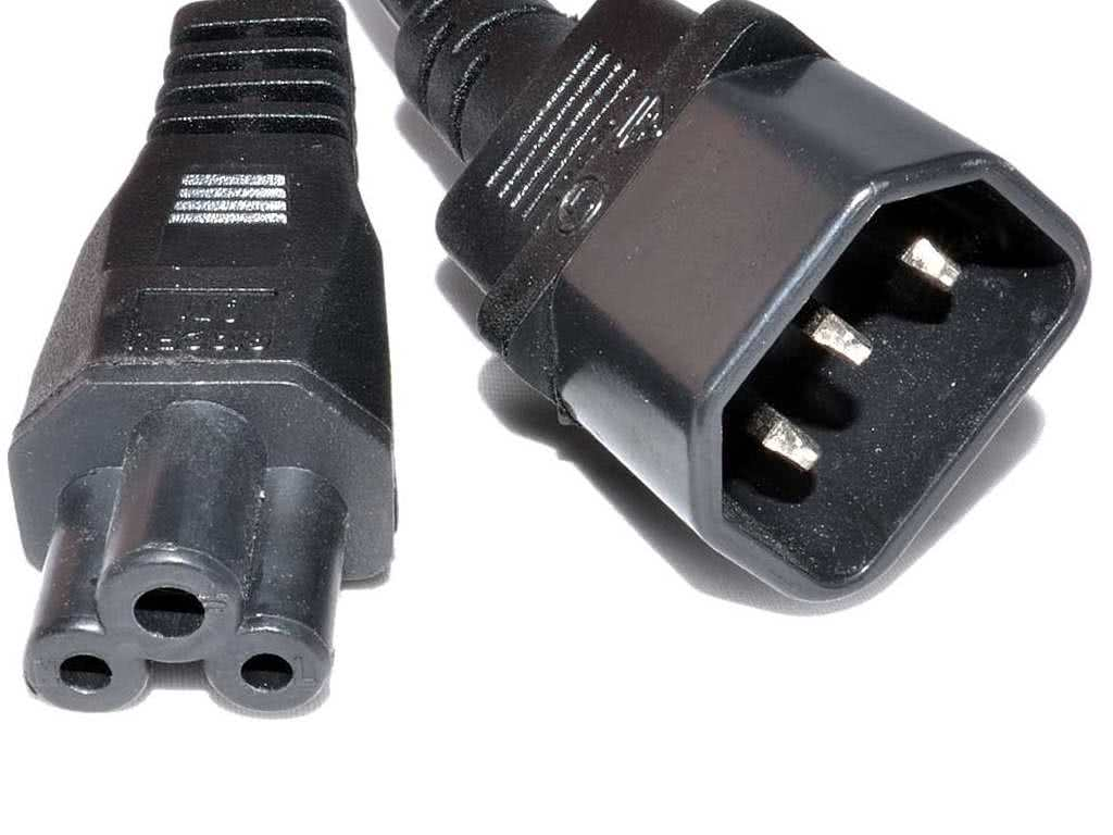 1.5 meter Cr Plug to Male Kettle Cord (IEC Plug / C14 Adapter) Extension on