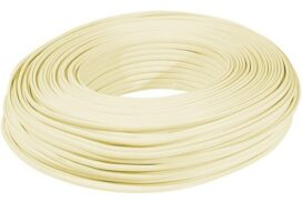 100 Meter Cable Roll Standard 4 Core Telephone cable (used with RJ10 or RJ11 Connectors)