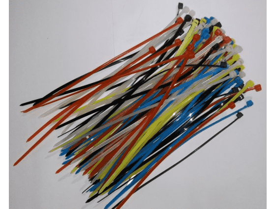100Pcs Multicolor 115mm Cable Ties Pack