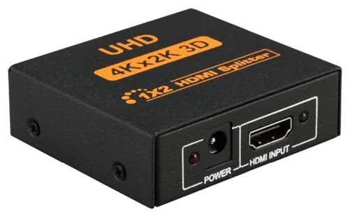 1x2 HDMI Splitter - 4K x 2K Ultra HD (uHD) - 2 Ports Output