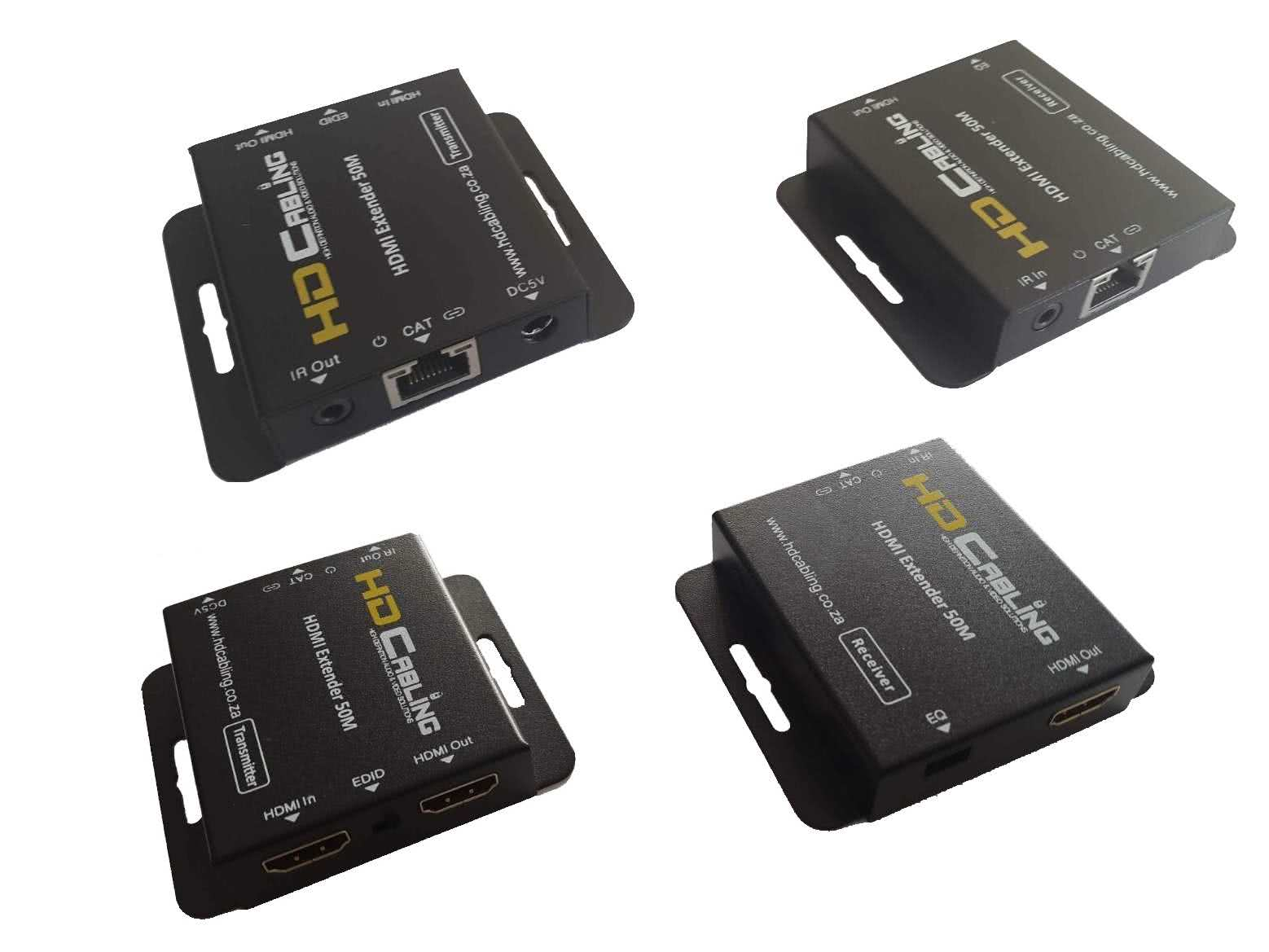 1x2 HDMI over CAT6/7 HDMI Splitter & Extender with HDMI Loop-out (Passthrough) and EDID + Equalizer Function