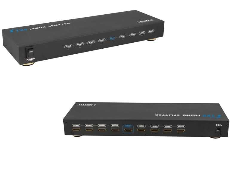 1x8 (8 outputs) Powered HDMI Splitter - HDCP 1.2, HDMI v1.3 up to 1080p/1920x1080 resolutions