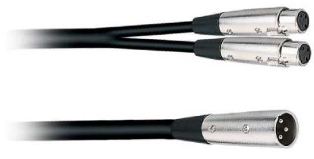 2 Meter XLR Male to 2x XLR Female Cable Y-Splitter