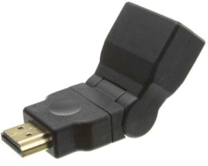 HDMI Swivel / Rotatable Type adapter (allows 180 Degrees rotation) - Male to Female (Gold Plated Connectors)