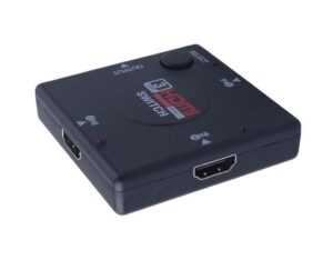 3×1 (3 input ports) Manual HDMI Switch | Push Button | 1080p