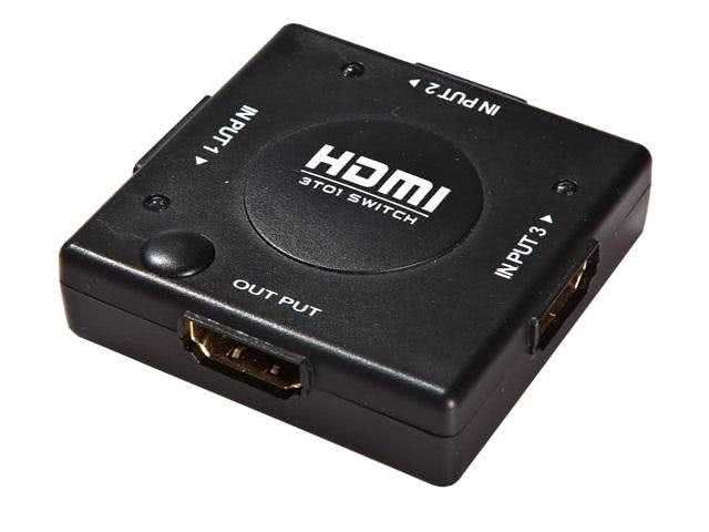 3x1 (3 input ports) Manual HDMI Switch - Push Button Type