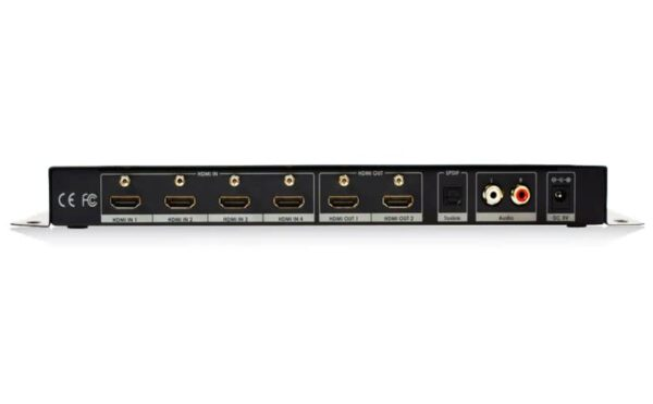4×2 HDMI True Matrix Switcher / Splitter v2.0 4k Ultra HD with Audio Extractor