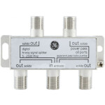 4 Way RF Splitter / F Splitter With DC Power Pass