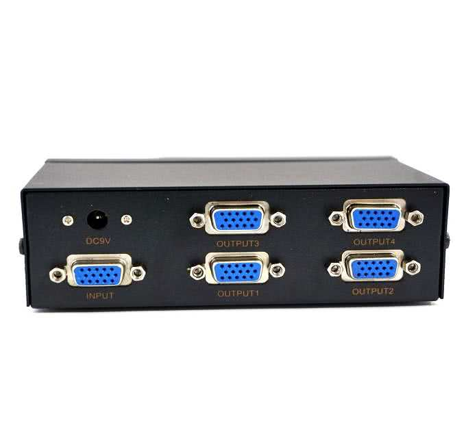4-Way (4x1) VGA Switch (4 inputs, 1 output to connect one display to multiple PC's / Laptop's)