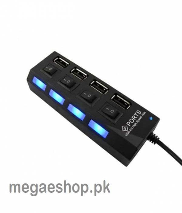 Hi-Speed 4 Port USB 2.0 Hub 4 Ports - USB Powered