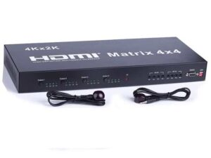 4x4 HDMI True Matrix Powered Switch / Splitter with IR Remote Control - HDMI v1.3 & 3D Support
