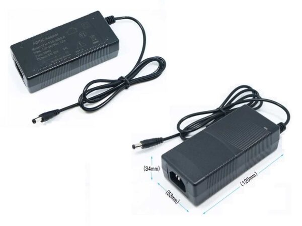 52 Volt, 2A Switched Mode Power Supply used with Power over Ethernet Switches & POE Injector Hubs