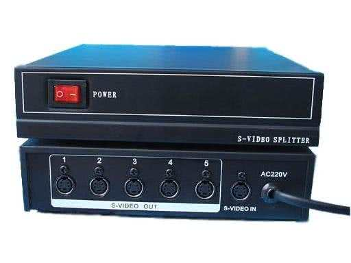 1x5 (5-Way) Active / Powered Svideo Splitter