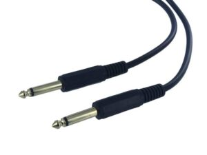 10 Meter 6.35mm Mono Jack to 6.35mm Mono Jack Audio Cable