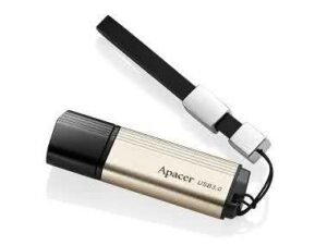 Apacer AH353 64GB USB 3.0 Flash Drive Champagne Gold Color - Fast Read/Write speeds up to 43MB/s