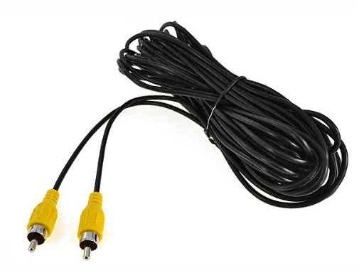 7 Meter Single Analogue RCA to RCA Cable (3 x Can be used for Component video or Composite & Audio) - Black