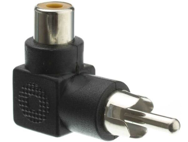 90 Degree Male RCA / AV to Female RCA / AV Adapter