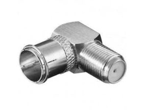 90 Degree FType Male to Female Push-in Adapter for Explora/HDPVR or any decoder Ftype female port