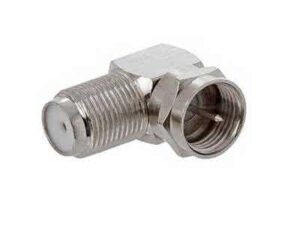 90 Degree Twist-On FType / F-Connector (For use with RG6U cables) - Nickel Plated