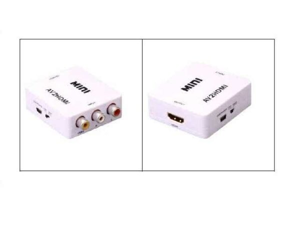 Composite RCA / AV to HDMI Converter - Upscale / Upconvert to 720p / 1080p and combines audio into HDMI stream