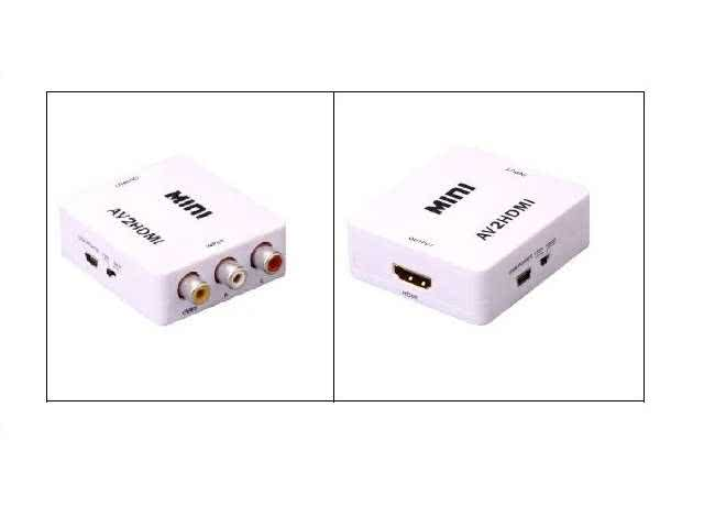 composite rca / av to hdmi converter - upscale / upconvert to 720p / 1080p  and