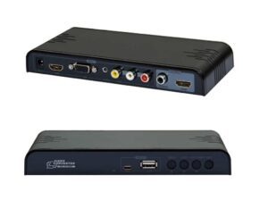All to HDMI Scaler & Media Player - Upscale to 720p / 1080p (Composite,AV,VGA to HDMI) with 3.5 Audio output - Supports USB Media Playback and upscaling