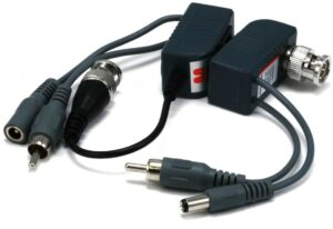 3-in-1 Video/Audio/power Passive CCTV Camera Balun set over network cable - Set