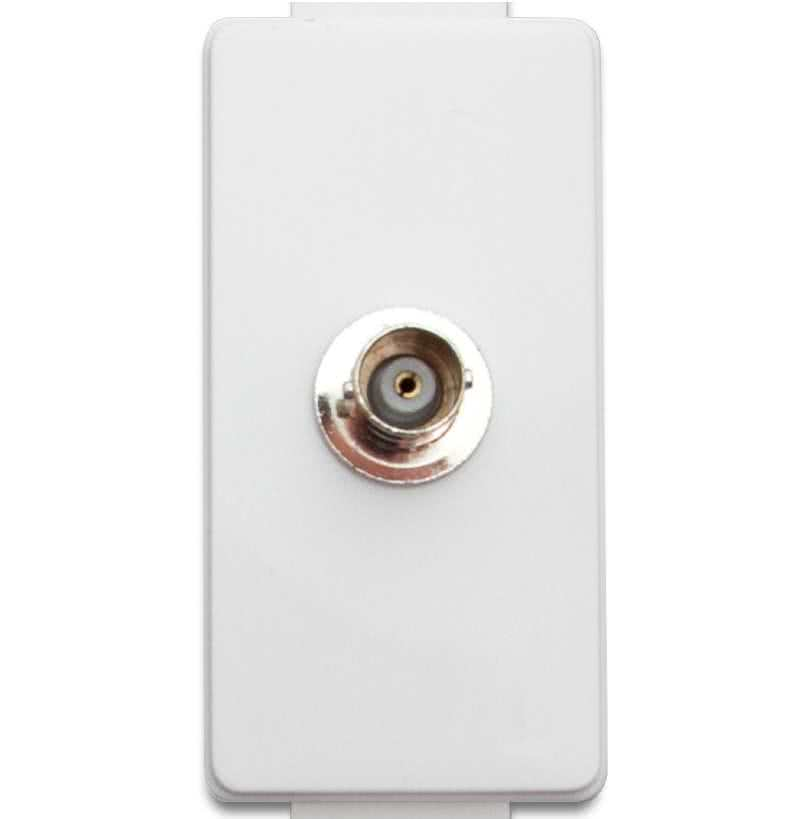 WallPlate Modular Keystone BNC Module Insert