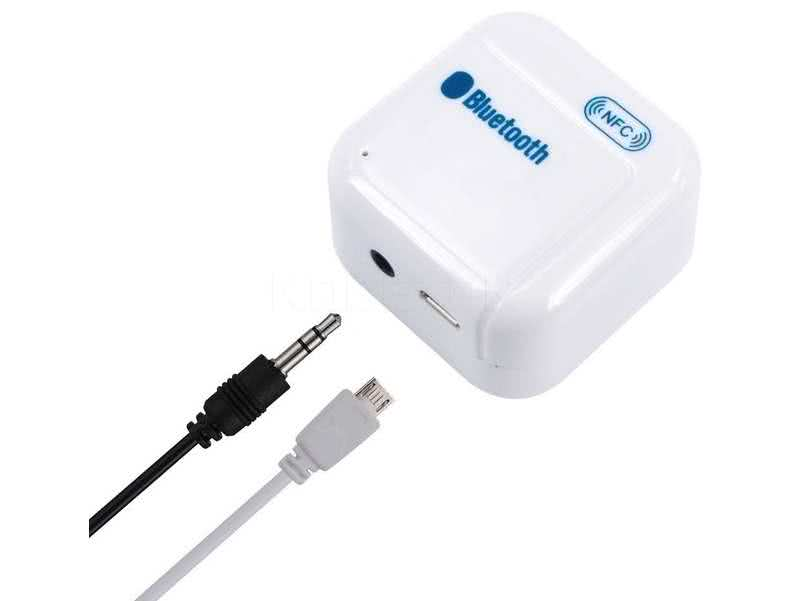Wireless Bluetooth Audio Receiver with Rechargeable Battery (Bluetooth to 3.5mm Jack Input) - Send audio wireless to Home Theater / Car Audio or any AV audio device