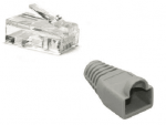 CAT5e / CAT6 Unshielded Connector + Boot 23-26AWG Cable up to 0.57mm conductor size