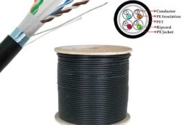 305 Meter Roll CAT6 SFTP CCA Outdoor Ethernet Cable (shielded, solid core with braiding) up to 1Gb/s - UV Protected - Black