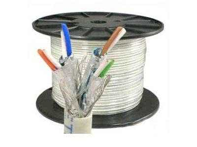 305m Roll - CAT7 SSTP Pure Copper Ethernet Cable (All pairs individually shielded, solid core with braiding) up to 10Gbit/s - Gray