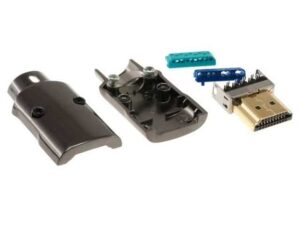 HDMI Crimp-on (Field Terminated Connector) / Head with Metal Casing for Custom Length HDMI / Professional Installations
