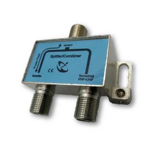 2-Way Satellite Diplexer RF and LNB Signal Combiner / LNB Splitter for DSTV