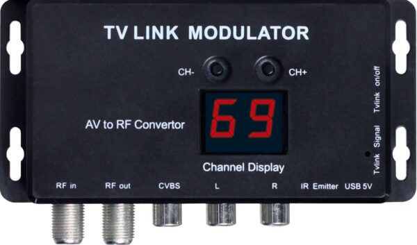 RF TVLink Modulator – AV to RF Converter with IR Extender