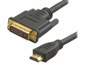 1.8 Meter HDMI to DVI-D Dual Link Cable - (Gold Plated Connectors)