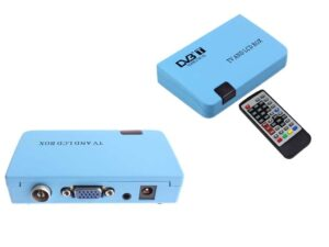 External TV Tuner / Converter - Convert Digital RF (DVB-T) to VGA or DVB-T RF to AV Video (Settop Box - STB to VGA) incl UHF/VHF Scanner