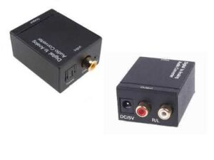 Digital Audio / Coaxial or Optical Toslink (Dolby or Surround) to Analogue Stereo RCA Audio Converter