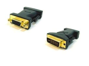 Male Dual Link DVI-A (DVI-I Port) to VGA-HD15 Female Adapter (Gold Plated)