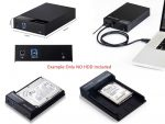"""External USB 3.0 5Gbit/s to 2.5"""" or 3.5"""" SATA Harddrive (HDD) Enclosure Case with Slide Lid and External Power Supply/USB 3.0 A to USB 3.0 B cable"""