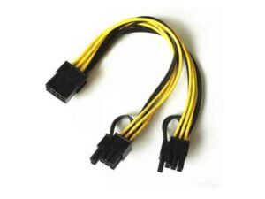 Female 8Pin PCIe (Black Connector) to Dual (2x) Male PCIe 8pin (6+2Pin) PCI Express Splitter Cable