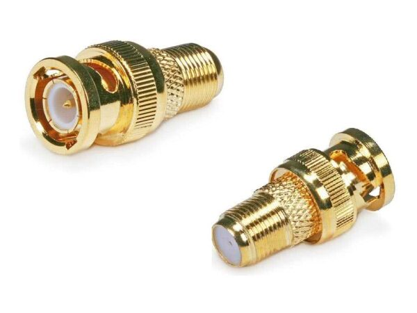 Female F-Type Connector to BNC Male Adaptor - Gold Plated