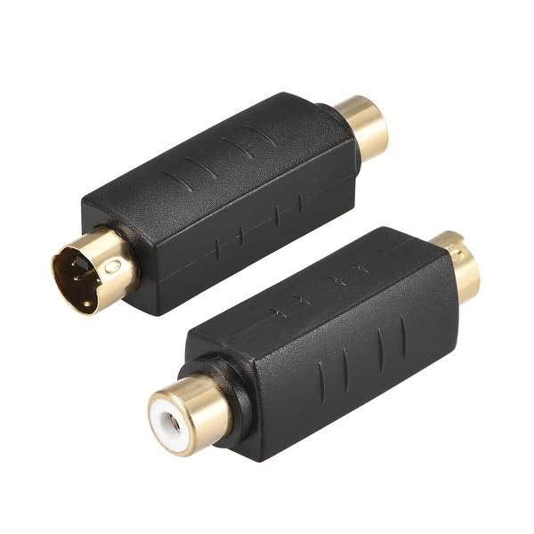 Female RCA to SVideo Male Adapter (Bi-Directional, 4-pin type Svideo, VHS)