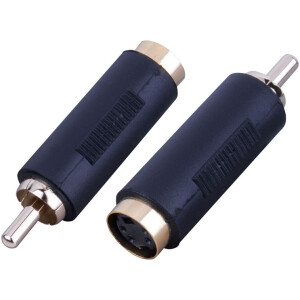 Female SVideo to RCA Male Adapter (Bi-Directional)