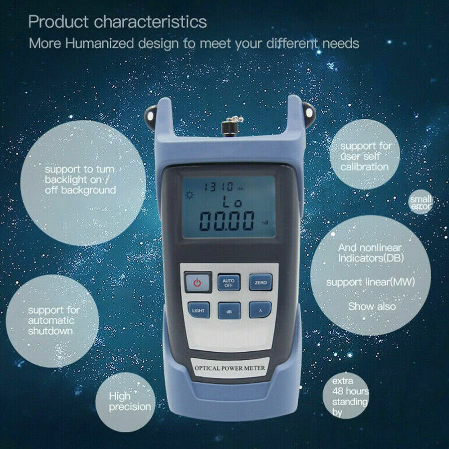 Fiber Optic Cable Tester / Light Meter Tester with Display Screen - Can Test FC,ST and SC Cables