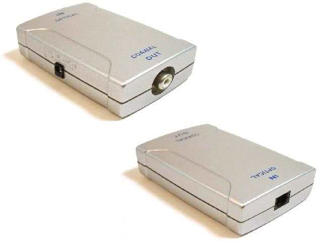 Toslink Optical to Digital Coaxial (RCA) Converter