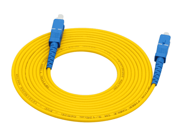 100 Meter SC to SC Optical Fiber Cable for Networks / Fiber HDMI Extenders, 3mm, SingleMode G652D Spec 9/125um (Micron) Patch Cord (FTTH)