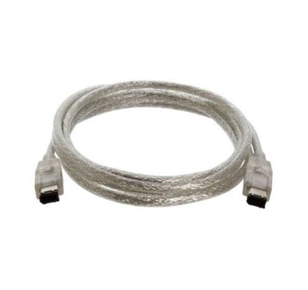 1 Meter - 6 Pin to 6 Pin FireWire 400 / IEEE-1394 / iLinkDV Cable - Black