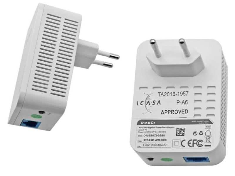 Tenda 1Gbit/s Gigabit Ethernet Network over Powerline Adapter - Use your existing home 220v power cables as a data network